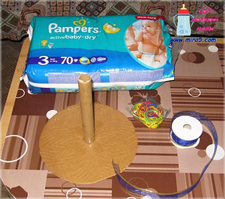 торт из памперсов,оригинальный подарок